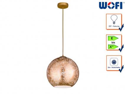 Design Pendelleuchte Kugellampe Glasschirm Gold Ø 30cm E27 elegante Dekoleuchte