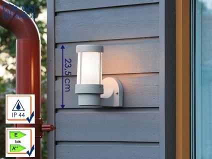Konstsmide Wandleuchte SIENA grau, dimmbar, Außenbeleuchtung Terrasse Haus IP44