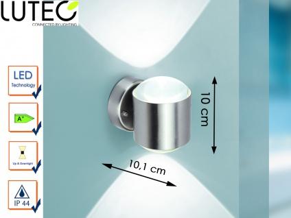 Edelstahl Wandleuchte außen LED Außenleuchte IP44 H. 10cm Fassadenbeleuchtung