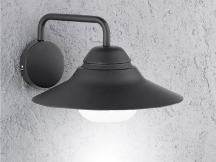 LED Außenwandleuchte Aluminium H. 19 cm Wandleuchte außen Fassadenbeleuchtung