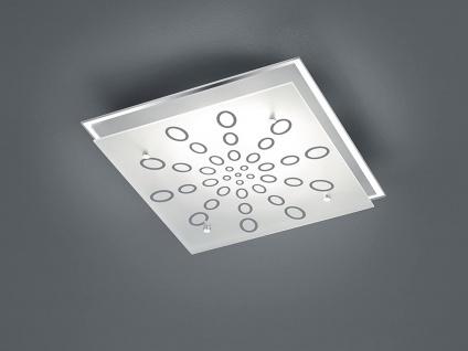 LED Deckenlampe Wandleuchte mit Dimmer aus Glas quadratisch fürs Ankleidezimmer