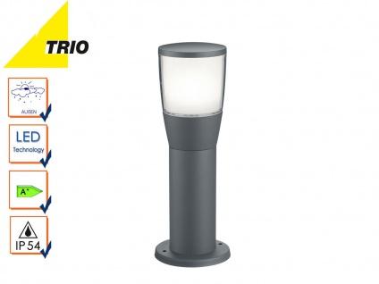 Trio LED Wegeleuchte Sockelleuchte SHANNON anthrazit, Außenlampe Gartenlaterne