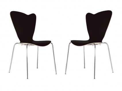 2er Design Stuhl HEART Stapelstuhl Esszimmerstuhl Bistrostuhl Schalenstuhl - Vorschau 2