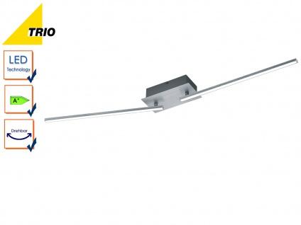 LED Deckenleucht HIGHWAY Aluminium gebürstet Acryl weiß B. 100 cm