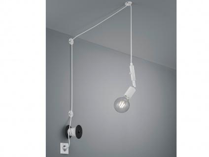 LED Pendelleuchte Weiß mit Stecker für Steckdose 6m langes Kabel - Hängelampen