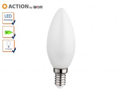 LED Leuchtmittel E14 Kerze, 3 Watt / 220 Lumen Warmweiß, Energieeffizienz A+