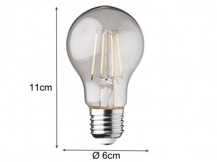Filament LED dimmbar E27 Leuchtmittel Glühlampe Klares Glas 4W 350lm 2700K - Vorschau 5