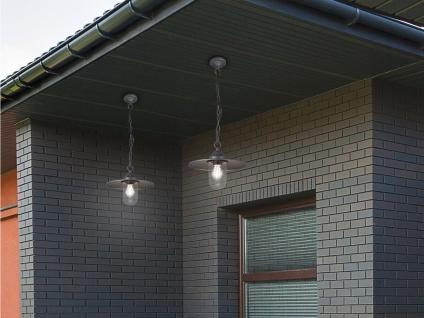 Vintage Außenpendelleuchte Anthrazit Hängelampe für draußen Hauseingang Terrasse