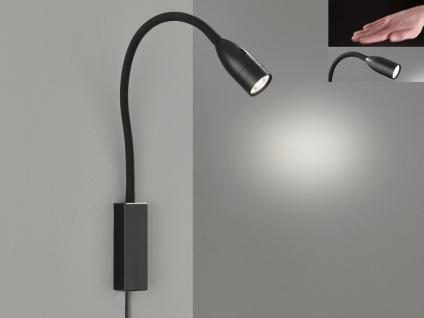 LED Leselampe Schwarz dimmbar Bett Lampe Leuchte fürs Kopfteil Couch Wandmontage - Vorschau 3