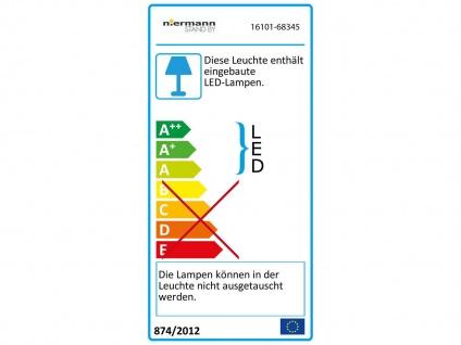 LED Deckenleuchte Schliffglas satiniert Altmessing Ø30cm LED Treppenhausleuchte - Vorschau 4
