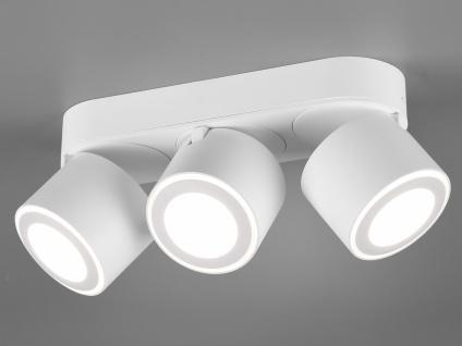 LED Deckenstrahler 3-flammig Weiß schwenkbare Deckenlampen für Flur und Diele