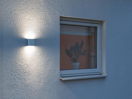 2er-Set Up-/Down Außenwandleuchten Wandleuchten CHIERI weiß 6 Watt-LED 450 Lm - Vorschau 5