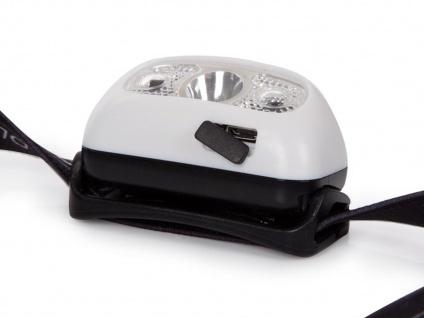 Wiederaufladbare Stirnlampe Kopflampe Outdoor mit weißen CREE LEDs, SOS Funktion - Vorschau 3