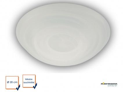 Led Deckenleuchte Deckenschale Rund Glas Alabaster O 20cm Led