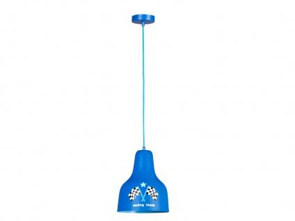 LIEF! Stylishe RACING Pendel Hängeleuchte Blau fürs Jungen KinderzimmerLAMPEN