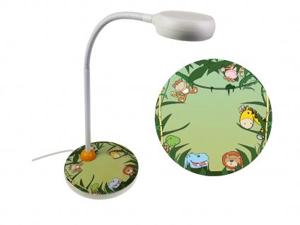 Design Nachttischlampe Kinder Flexrohr Tischlampe Kinder Leselampe WILDE TIERE