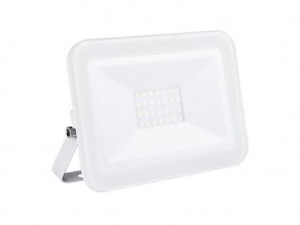 20W LED Strahler weiß, Fluter mit Befestigungsbügel, flaches Design, IP65