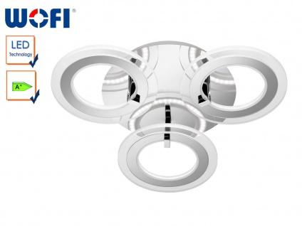 LED-Deckenleuchte, Design Ringe, Chrom / Acryl, Wofi-Leuchten