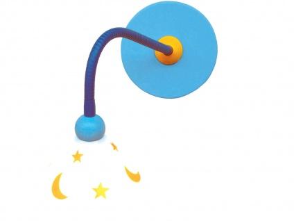LED Wand-Leseleuchte -Mond & Sterne- sehr biegsam Schnurschalter Baby Wandlampe