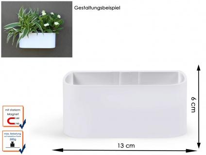 Kunststofftopf mit Magnet B. 12 cm, weiß, Wandaufbewahrung Wanddeko, KalaMitica