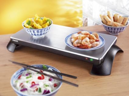 Elektrische Warmhalteplatte für den Tisch ohne Kabel, Buffetwärmer, Tellerwärmer