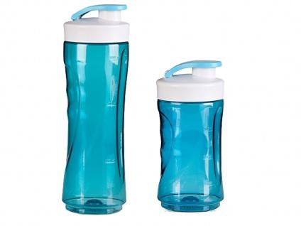 2er Set Ersatzbehälter / Trinkflasche für Smoothie-Maker 300ml, blau, DOMO - Vorschau 2