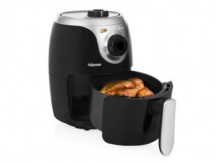 Mini Heißluftfritteuse Crispy Fryer ohne Öl 2 Liter 1000 Watt Leistung Tristar - Vorschau 3