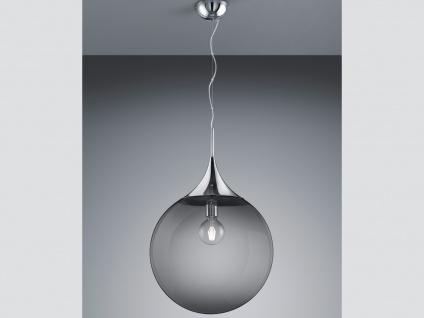 LED Pendelleuchte Rauchglas Kugellampe für über Esstisch Galerie Esszimmer Loft