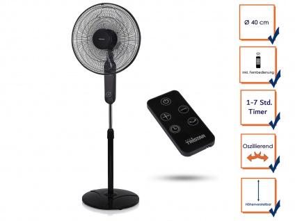 Oszillierender Zimmer Standventilator DESIGNER Windmaschine Fernbedienung Timer