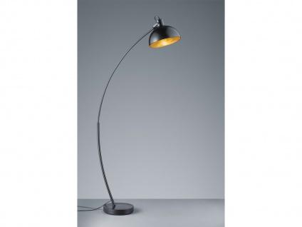 Coole Stehleuchte moderne Bogenlampe für über Esstisch Wohnzimmer Schwarz Gold