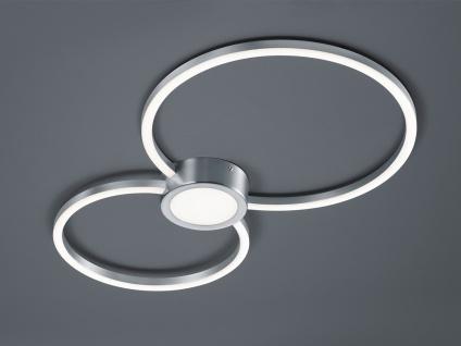 Runde LED Deckenlampe in 65x65cm Nickel matt/weiß mit 3-stufigem Switch Dimmer