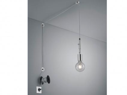 LED Pendelleuchte Silber mit Stecker für Steckdose 6m langes Kabel - Hängelampen