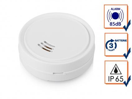 Smartwares Mini Wassermelder Ø 6, 3cm mit lautem Alarm, Schutz vor Wasserschäden