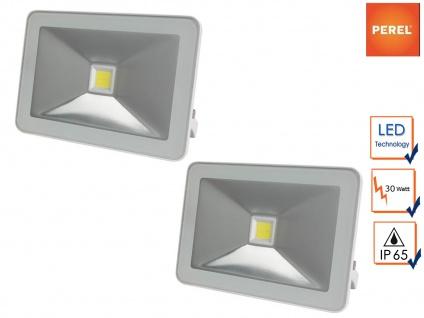2er Set 30W LED Baustrahler weiß Arbeitslampen, Scheinwerfer Flutlicht Strahler