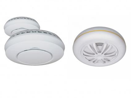 Alarmset: 2x Funkrauchmelder + Hitzemelder, vernetzte Lebensretter Thermomelder - Vorschau 2