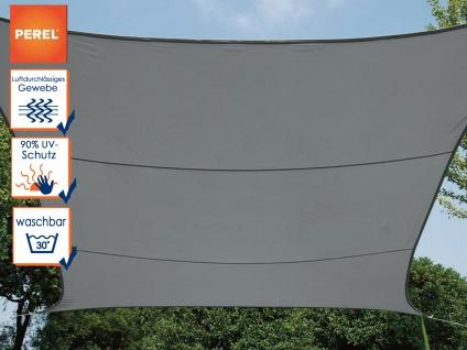 Sonnensegel Viereck Dunkelgrau 13 m², Sonnenschutz für Terrasse, Terrassensegel