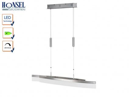 LED Pendelleuchte Hängelampe Nickel matt/Chrom Acryl weiß SEGEL L. 115cm