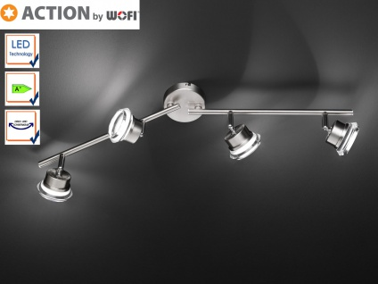 4-flammiger LED Deckenstrahler Spots schwenkbar, Action by Wofi