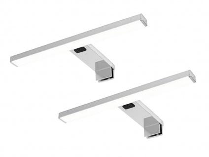 LED Spiegelleuchten 2er SET fürs Badezimmer mit Bewegungsmelder, Metall in Chrom