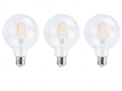 3er-Set FILAMENT LED Leuchtmittel Globe E27, 6 Watt, 806 Lumen, 2700K, warmweiß - Vorschau 2