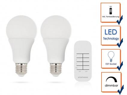 Dimmbare E27 LED Leuchtmittel mit Fernbedienung, Glühbirnen Beleuchtung Wohnraum - Vorschau 3