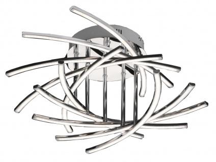 Dimmbare 10-flammige LED Deckenleuchte in Chrom Ø 55 cm Deckenlampen Design