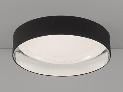 Dimmbares LED Sternenhimmel Deckenlampenset je 80cm, Textilschirm schwarz silber - Vorschau 3