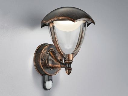 LED Außenwandleuchte Bewegungsmelder Landhaus Terrassenbeleuchtung Außenlaterne - Vorschau 1