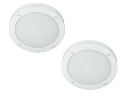 2er Set runde Deckenlampen weiß fürs Bad, Badezimmerlampen Beleuchtung Bad Decke - Vorschau 2