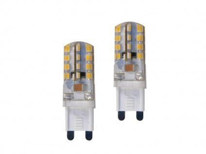 2er-Set LED Leuchtmittel Stiftform 2 Watt warmweiß nicht dimmbar G9-Sockel weiß - Vorschau 2