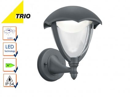 Trio LED Außenwandlampe Laterne GRACHT anthrazit, Außenbeleuchtung Haus IP54