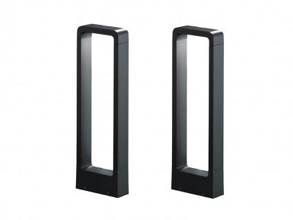 LED Sockelleuchten in Anthrazit 50cm - 2er Set Wegeleuchten Terrassenbeleuchtung - Vorschau 2