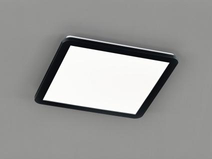 LED Deckenleuchte CAMILLUS flache Badezimmerlampe eckig 40x40cm Schwarz IP44