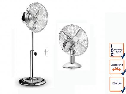 Leiser Oszillierender Stehventilator & Tischlüfter Winderzeuger Zimmerventilator